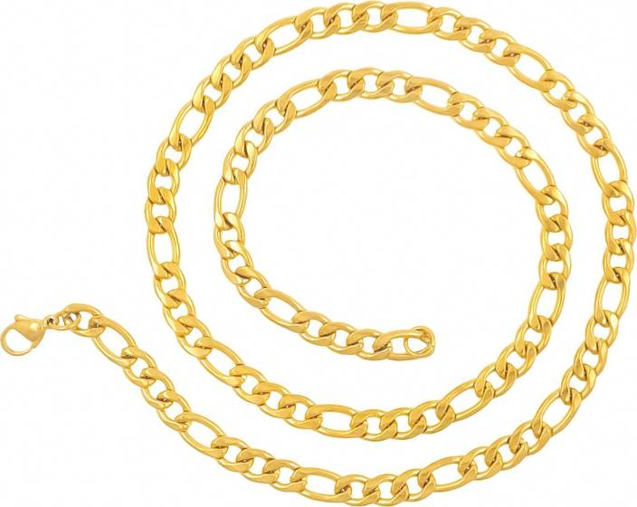 66064f3e82a saizen CH194 Dazzling Figaro Chain for Men & Boys Gold-plated Plated  Stainless Steel Chain Price in India - Buy saizen CH194 Dazzling Figaro  Chain for Men ...