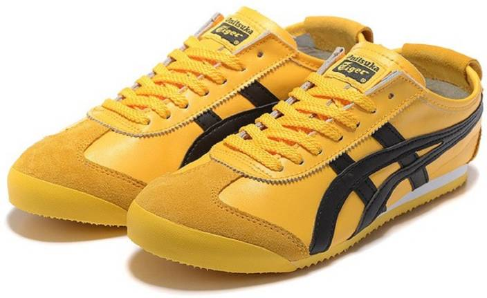 6eb5b7244a9e Onitsuka Tiger Mexico 66 Yellow Black Sneakers For Men - Buy ...