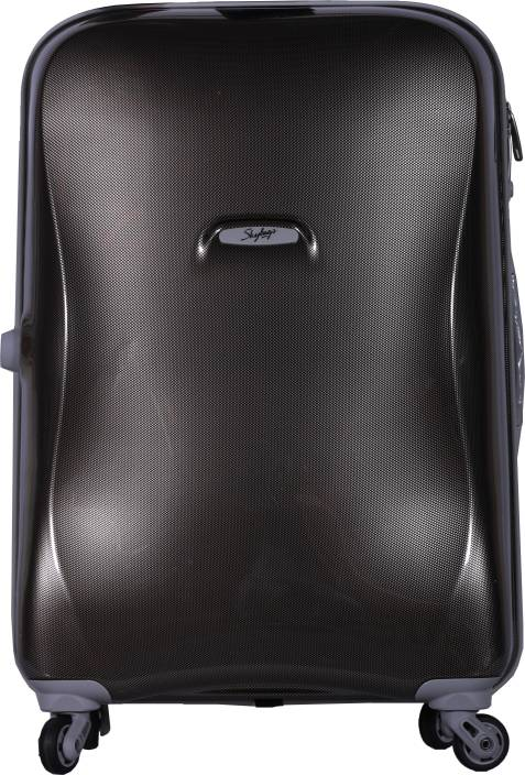 992f8cc8512c Skybags Odin Spinner Hard Trolley 55 cm (Gold) Cabin Luggage - 22 inch ( Black)