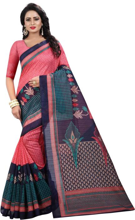 Yashika Printed Bhagalpuri Art Silk, Khadi, Poly Art Silk, Poly Silk, Polyester, Printed Silk, Tissue Silk Saree