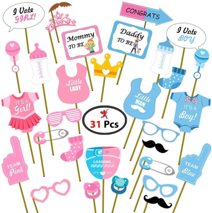 20 Pcs 1st Birthday Baby Shower Photo Booth Props Boy Girl Kids Party Decor Set Party Decorations Home Garden Map India Org