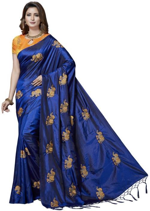 Rani Saahiba Embroidered Fashion Art Silk Saree