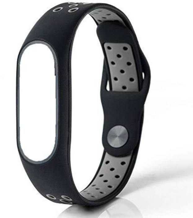 23eceaadd CELLFATHER Silicone Colorful Band Strap for Xiaomi Mi Band 2 (  Black/Gray_Dotted ) Smart Watch Strap (Black, Grey)