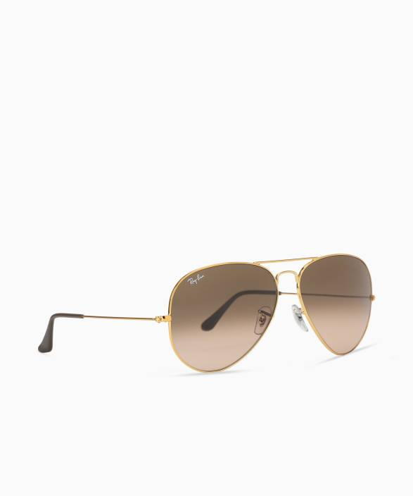 7d5271a036405 Buy Ray-Ban Aviator Sunglasses Brown For Men Online   Best ...