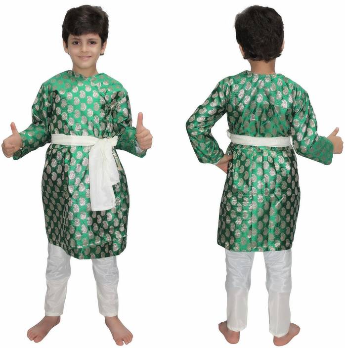 3c81ad1550a68 Kaku Fancy Dresses Gujrati Boy Green Color Costume, Indian State ...
