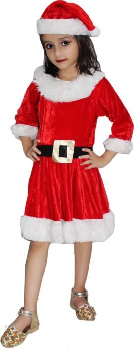 45580bb82c185 Kaku Fancy Dresses Santa Girl fancy dress for kids,Christmas Day costume  for annual function