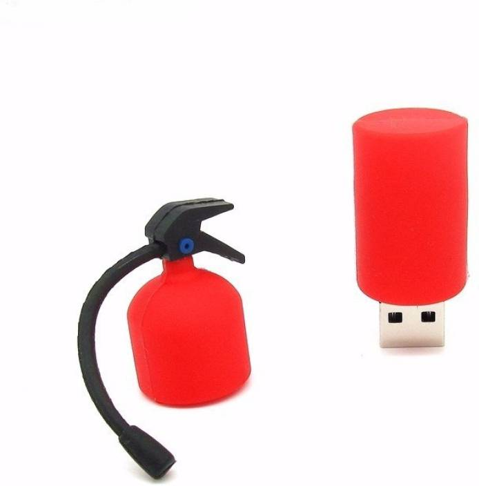 Tobo Fire Extinguisher USB Flash Drive 2.0 Pen Drive Pen-Drive Memory Stick Data Storage High Speed(8GB) (Red) 8 GB Pen Drive