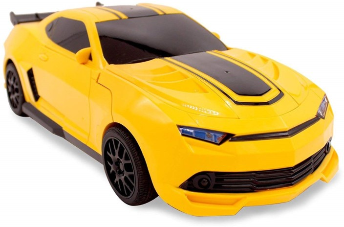 Remote Controlled CAMARO Rc Transformers Robot Car Toy Bumble Bee 1:14 Scale USA