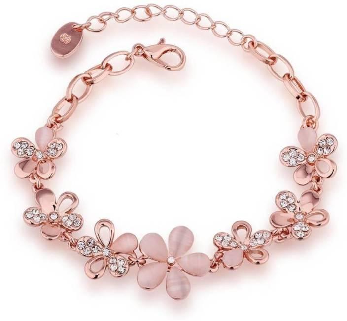 You Bella Alloy Moonstone Gold-plated Bracelet