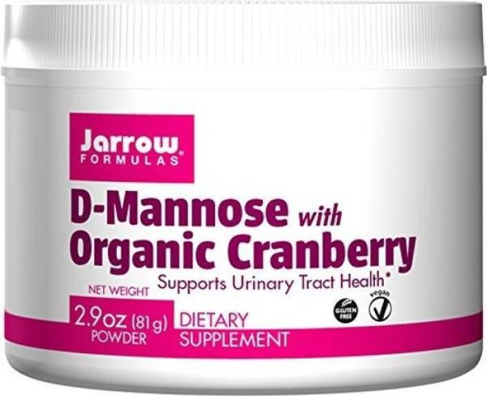 Jarrow Formulas D-Mannose with Organic Cranberry 2 9 oz (81