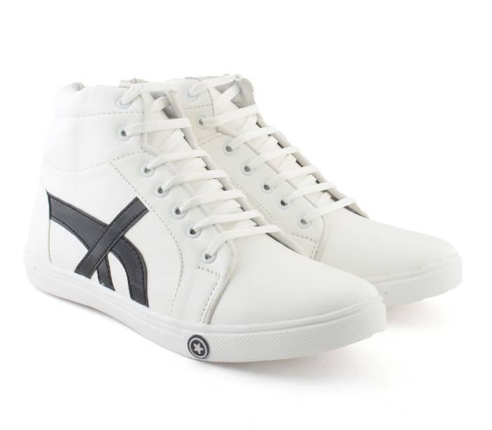 super popular 8f636 eabbd Berkins Berkins Men Synthetic White Sneaker Lace Up Shoes(White) Sneakers  For Men (White, Black)