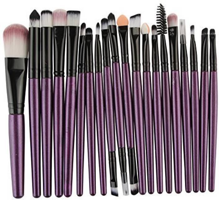 89ff16a7da Maange Makeup Brush Set 20 Pieces Professional Eye Cosmetics Set?Purple?  (Pack of 20)