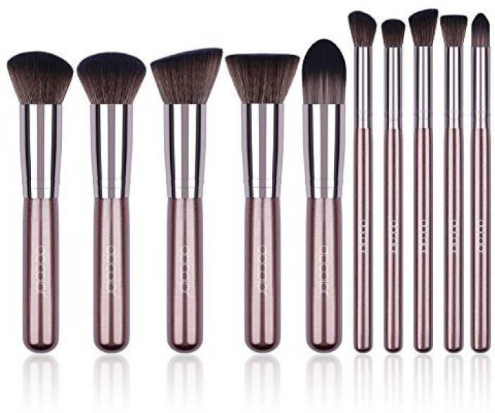1f8132f438ed Docolor Makeup Brushes 10 Pcs Brush Set Premium Synthetic Kabuki ...
