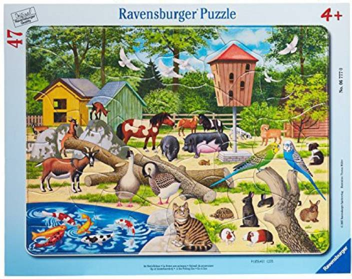 Ravensburger At The Petting Zoo 47 Pieces Frame Puzzle - At