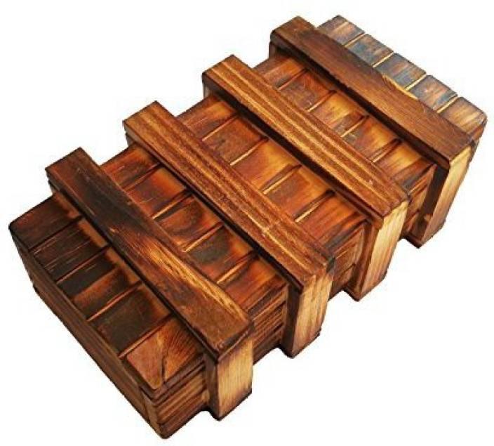 Actopus Magic Box Wooden Gift Case Storage Puzzle Secret Boxes Trick