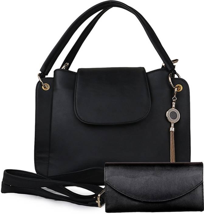 Deniza Women Casual Black PU Sling Bag