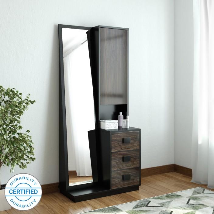 Crystal Furnitech Zinus Engineered Wood Dressing Table (Finish Color    Wenge + PA 108)