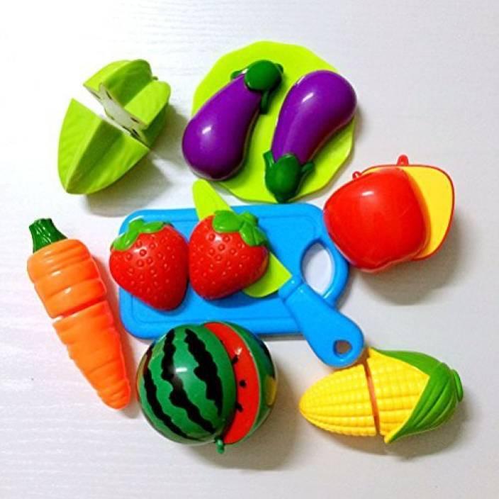 4d01b0b6dc75 Genrc OULII Pretend Play Cutting Fruit Toy Set Simulation Fruits ...