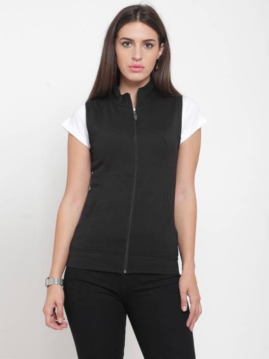 DARZI Sleeveless Solid Women Jacket