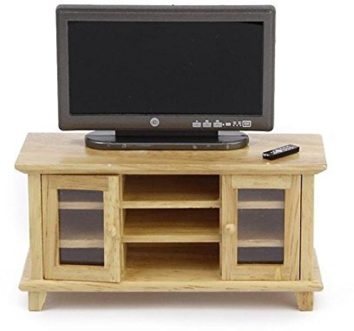 1:12 Dollhouse Miniature Wide Screen TV with Picture Doll House Decor Furniture