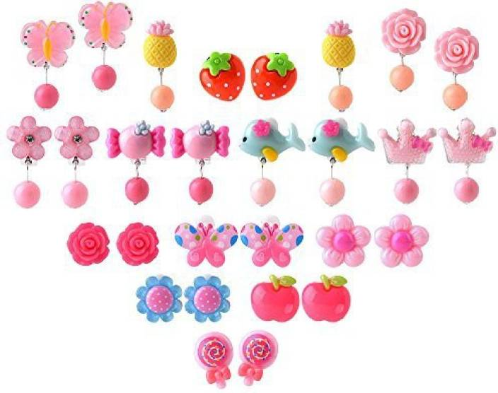 Genrc Coopay 14 Pairs Clip On Earrings S Play With Diffe Styles And Extra Earring Pad For Party Favor In 2 P