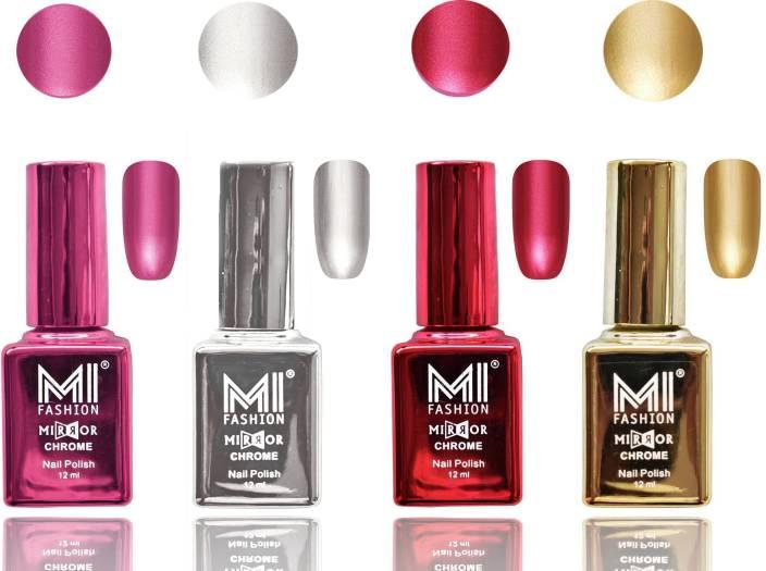 VOLO Metallic Gel Nail Polish Set,4 Colors Chrome Metallic Shades ...