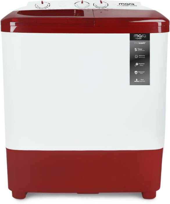 MarQ by Flipkart 6.5 kg Semi Automatic Top Load Washing Machine Maroon, White