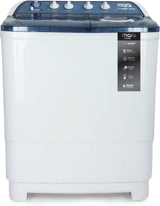 MarQ by Flipkart 8.5 kg Semi Automatic Top Load Washing Machine Blue, White
