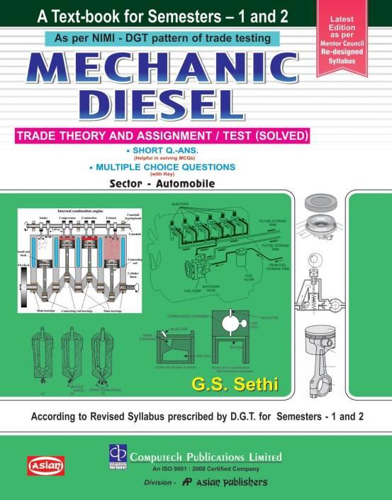 Mechanic Diesel Theory & Assignment Sem 1-2 ENGLISH ITI: Buy