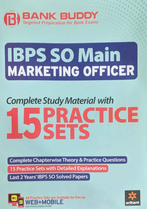 BANK BUDDY IBPS SO MAIN MARKETING OFFICER 15 PRACTICE SETS ( ENGLISH )