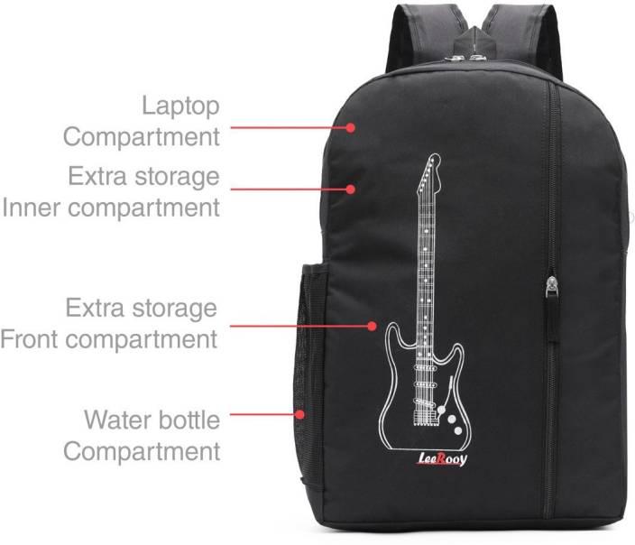 LeeRooy Nylon 20 Ltr Black Laptop Bag Backpack 25 L Laptop Backpack
