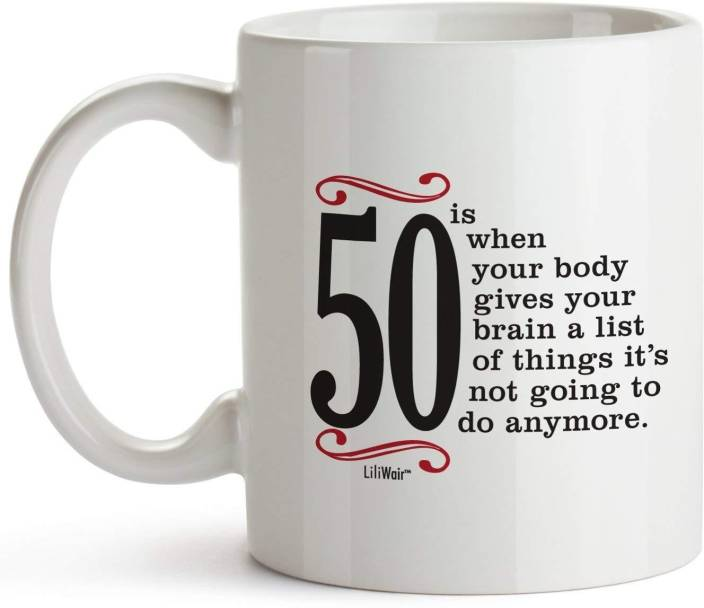 Pepronica 50th Birthday Gifts For Women Fifty Years Old Men Gift Happy Funny 50 Mens Womens Womans Wifes Female Man Ceramic Mug 350 Ml