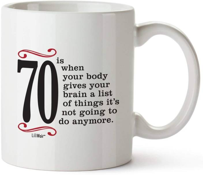 Pepronica 70th Birthday Gifts For Women Seventy Years Old Men Gift Happy Funny 70 Mens Womens Womans Wifes Female Man Ceramic Mug 350 Ml