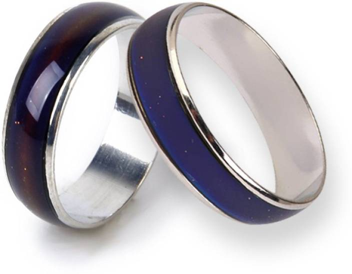 af729aebf2 Jholmaal Color changing mood ring (Heat based) set of 2 for valentines/party /gifting and more Metal Ring Set Price in India - Buy Jholmaal Color  changing ...