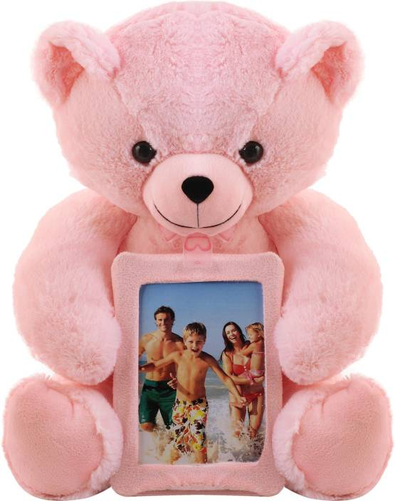 Miss Chief Teddy Bear Photo Frame Tab 40 Cm Pink Colour Soft