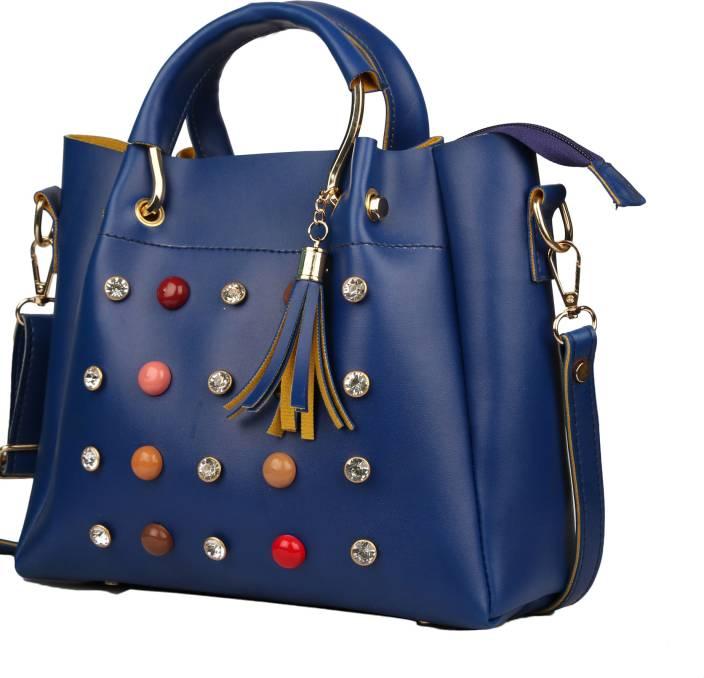 Deniza Women Casual Blue PU Sling Bag
