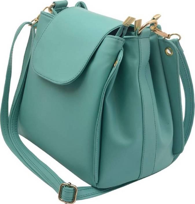 bagesi Women Casual Blue PU Sling Bag