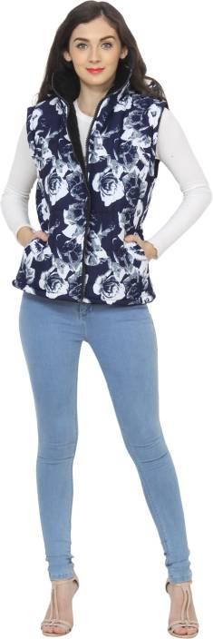 My Swag Sleeveless Floral Print Women's Jacket