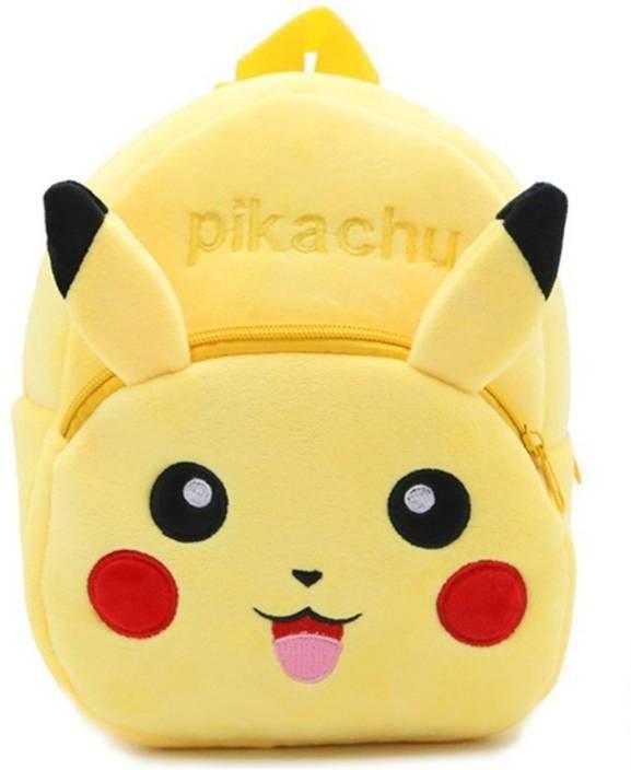 DZert School Bag For Kids Pickachu Soft Plush Backpack For Small Kids  Nursery-Bag (Age 2 to 6 Years) School Bag (Yellow a286e4b2f1969