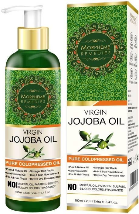 Morpheme Remedies Pure Virgin Golden Jojoba Oil (ColdPressed) For Hair,  Body, Skin