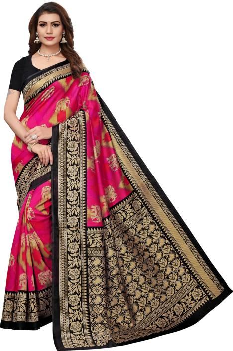 Ratnavati Printed Mekhela Chador Art Silk, Cotton Silk, Heavy Georgette, Silk Cotton Blend Saree