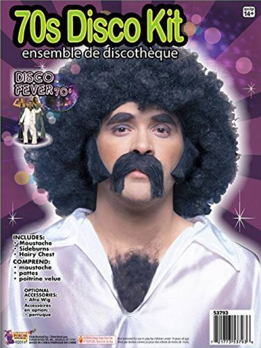 bfb995961d Forum Novelties 70S Disco Costume Facial And Chest Hair - 70S Disco ...