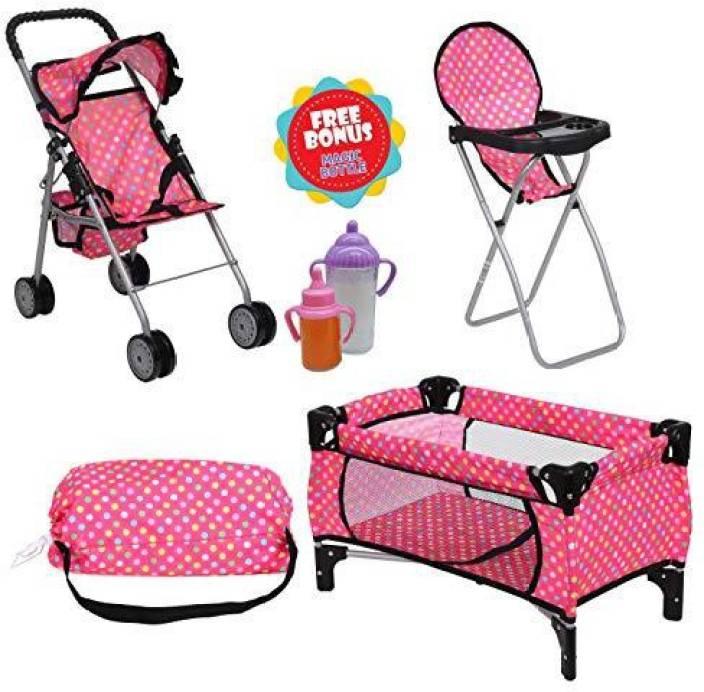 Baby Doll High Chair Stroller Set - Lesgazouillis