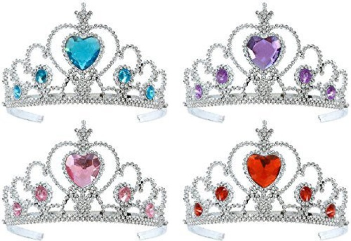 Tacobear Girls 5PCS Princess Dress up Accessories Gift Set Dress Tiara Crown Wig Wand Gloves Blue