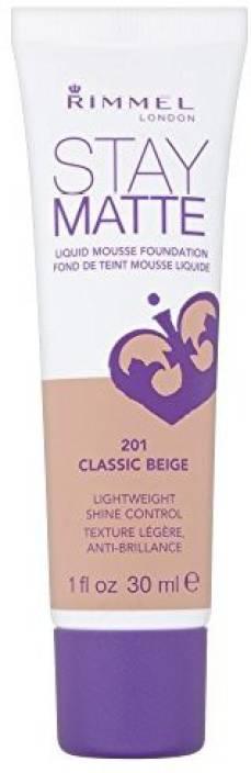 Rimmel 3 X London Stay Matte Liquid Mousse Foundation 30Ml 201 Classic Beige Foundation