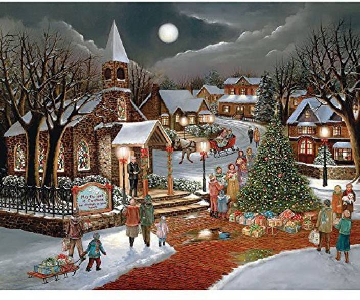 020e99f2bf18 Bits and Pieces - 300 Large Piece Jigsaw Puzzle For Adults - Spirit Of  Christmas - 300 Pc Holiday Church Jigsaw By Artist H. Hargrove (1 Pieces)