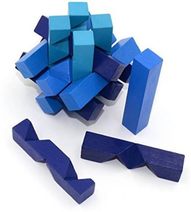 Ahyuan Handmade Wooden Puzzle Oblique Sticks Interlocking