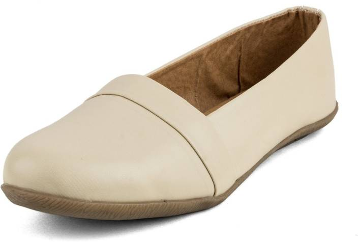 064607b3421d Tashi Cream Synthetic Leather Loafer cum Belly Shoes For Women Girls- 39  Casuals For Women (Beige)