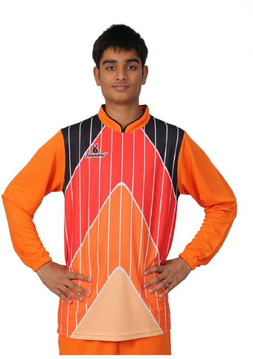 Triumph Sports Jersey Men s V-neck Orange T-Shirt - Buy Triumph ... 6c93bfbfc