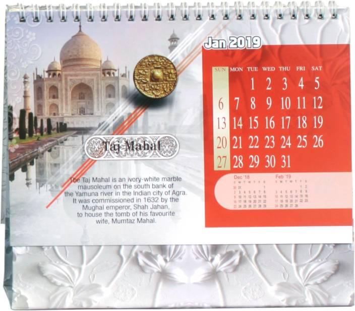 50c4b76103 VMP Word Monuments Desk Table Office and Planner 2019 Calendar 2019 Table  Calendar (Multicolor, Word Monuments)